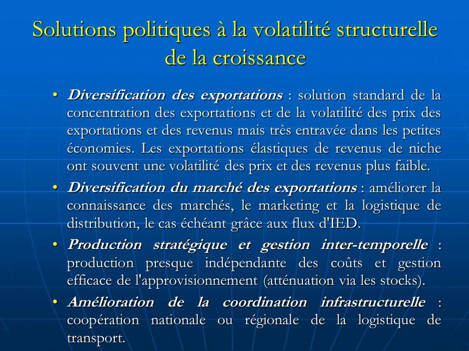 Renforcer la résistance : promotion de la formation de capital humain La population est l avantage principal des petites économies.