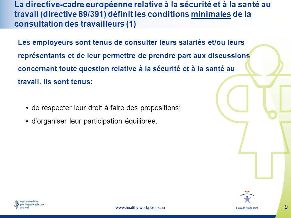 www.healthy-workplaces.eu La campagne est ouverte à tout individu ou organisation.
