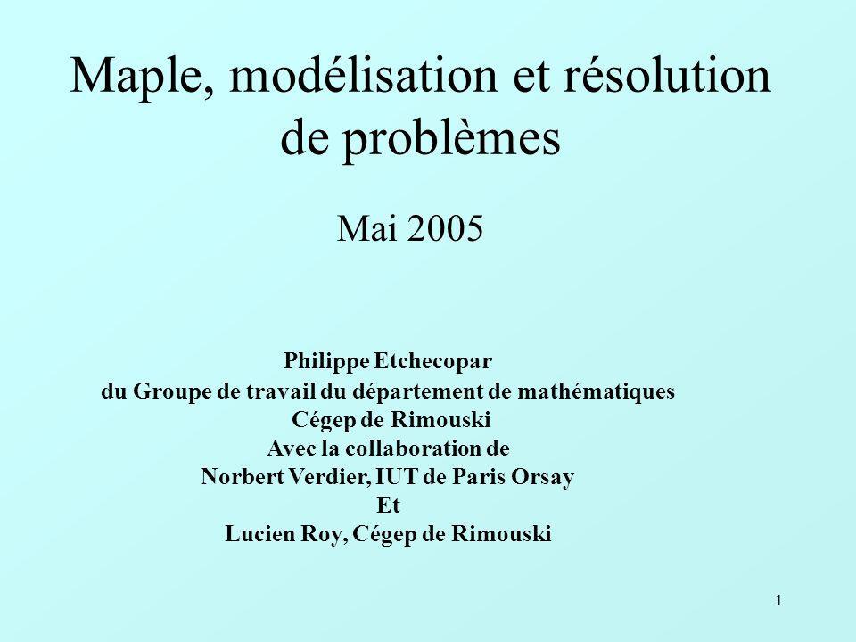 2 Deux grandes notions derrière le bouleversement du monde des sciences par lordinateur : celle de modèle et celle de simulation.