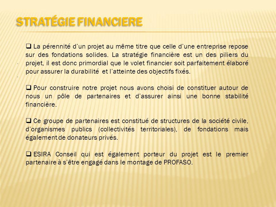 STRATÉGIE FINANCIERE..... La pérennité dun projet au même titre que celle dune entreprise repose sur des fondations solides. La stratégie financière e