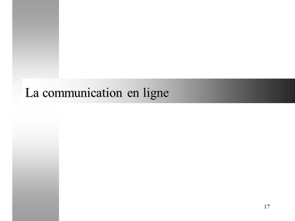 17 La communication en ligne