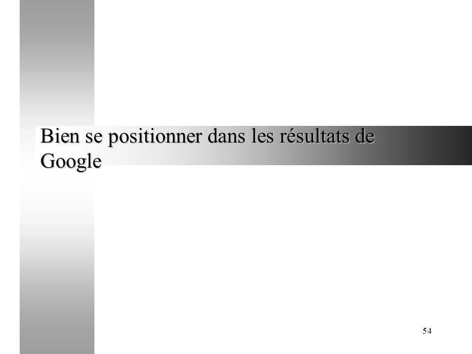 54 Bien se positionner dans les résultats de Google