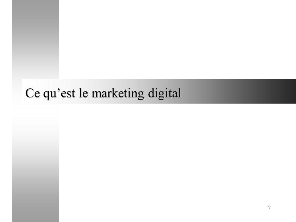 7 Ce quest le marketing digital