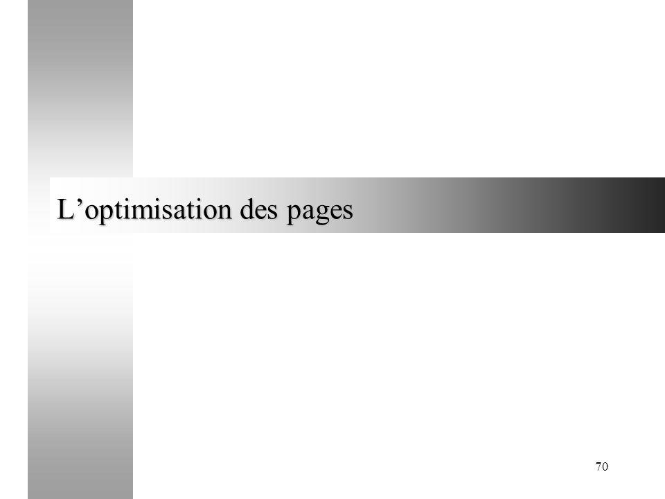 70 Loptimisation des pages