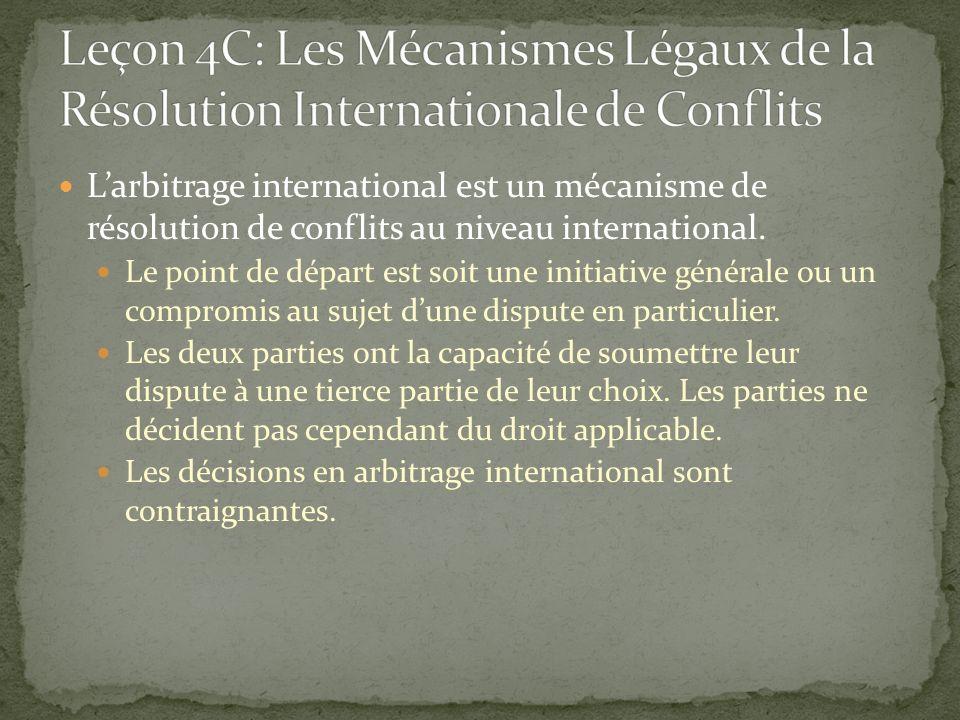 Larbitrage international est un mécanisme de résolution de conflits au niveau international. Le point de départ est soit une initiative générale ou un