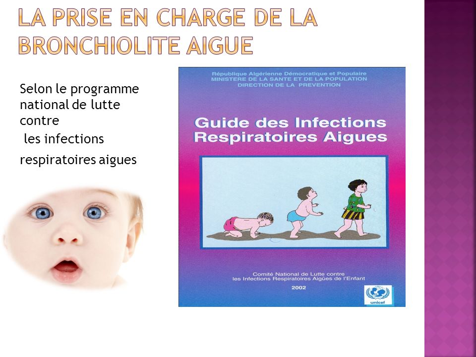Selon le programme national de lutte contre les infections respiratoires aigues