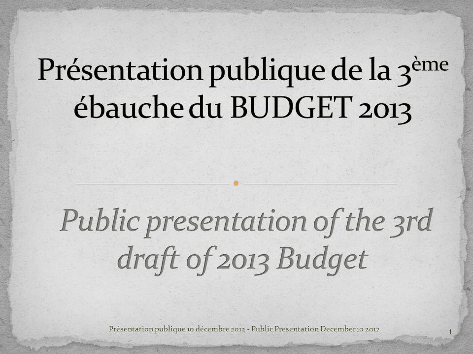 Présentation publique 10 décembre 2012 - Public Presentation December 10 2012 1
