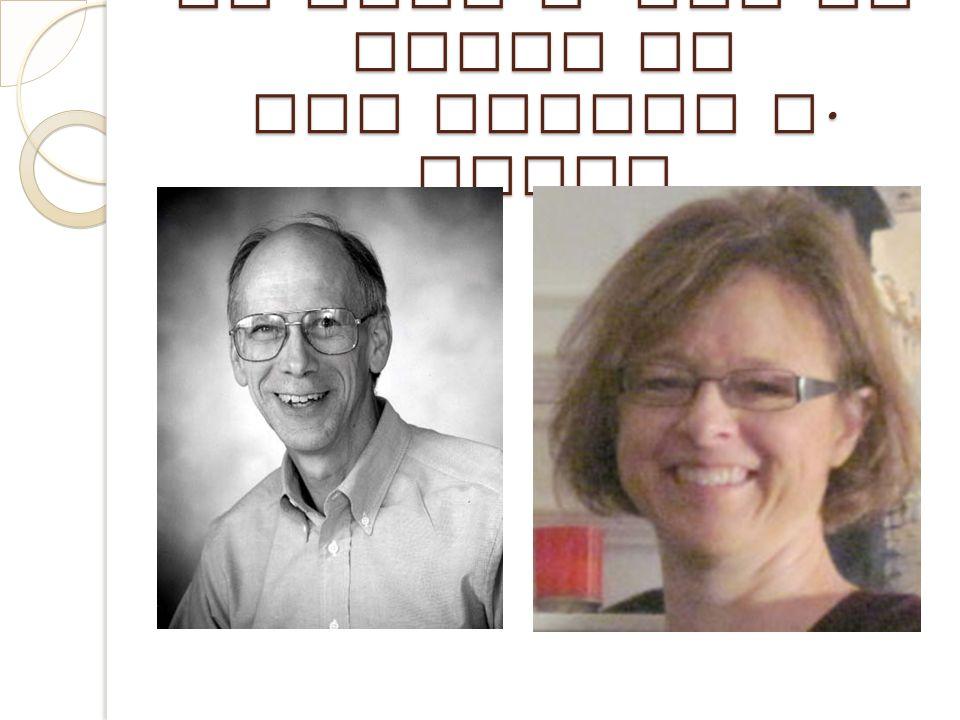 Dr John A. Van de Walle et Dre LouAnn H. Lovin LouAnn Lovin