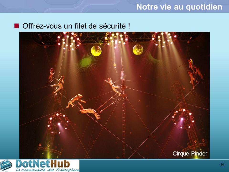 10 Notre vie au quotidien Offrez-vous un filet de sécurité ! Cirque Pinder