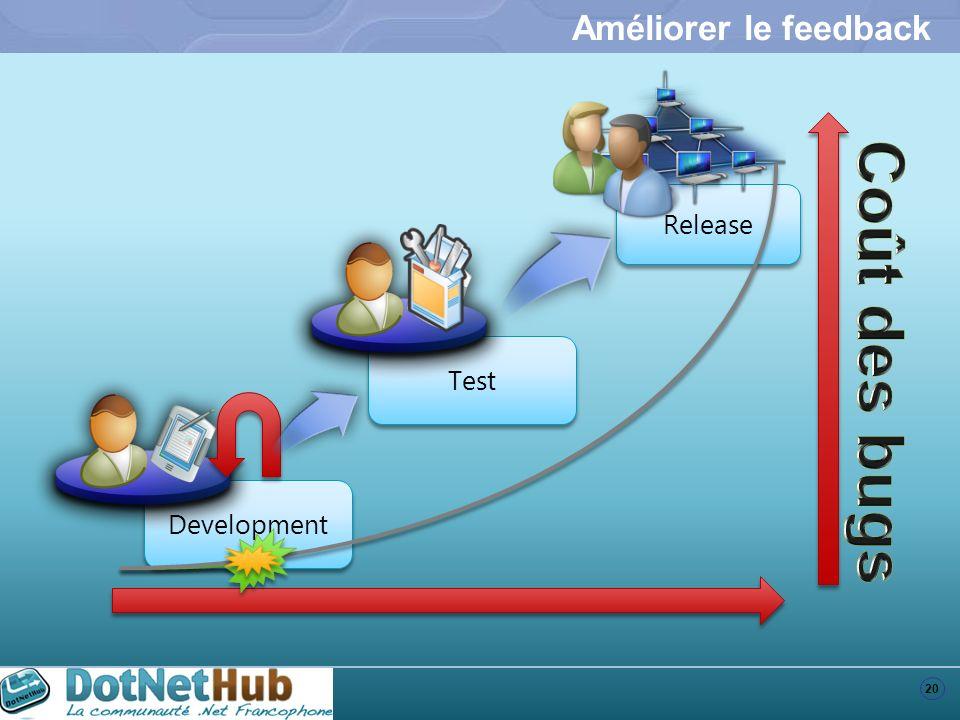 20 Development Test Release Améliorer le feedback