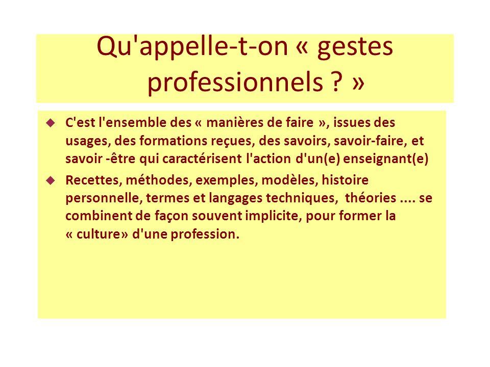 Proposition dobservables de gestes professionnels (analyse de pratique) 1.
