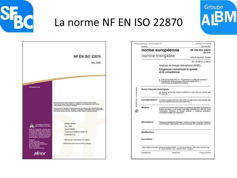La norme NF EN ISO 22870