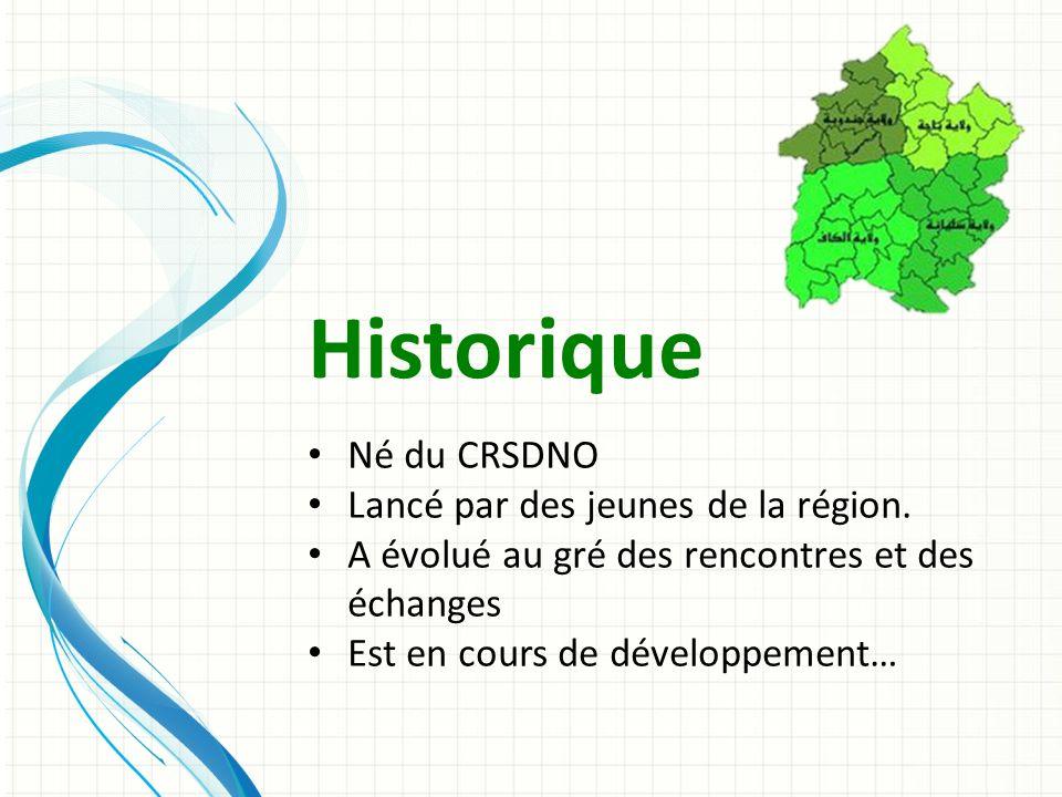 Historique Né du CRSDNO Lancé par des jeunes de la région.