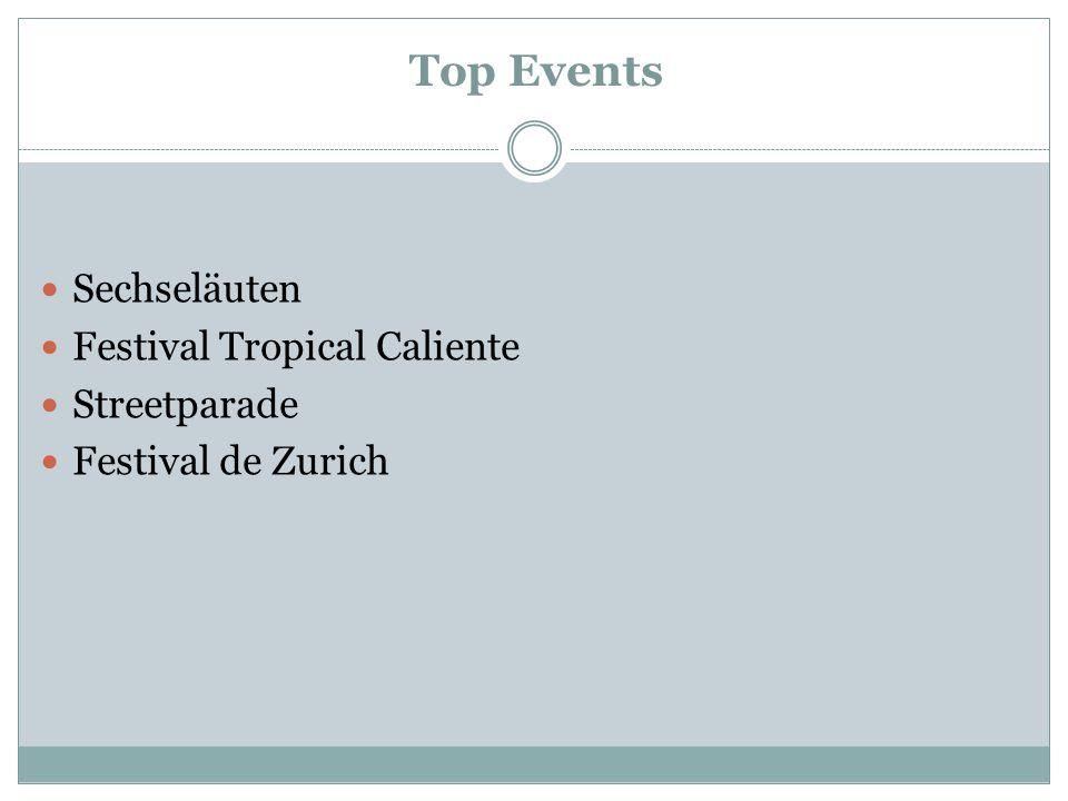 Top Events Sechseläuten Festival Tropical Caliente Streetparade Festival de Zurich