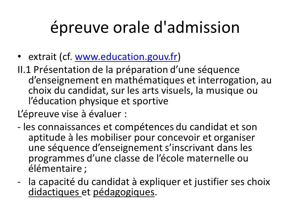 épreuve orale d admission Lépreuve comporte deux parties.