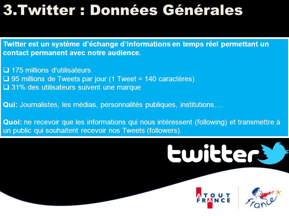 Twitter est un système déchange dinformations en temps réel permettant un contact permanent avec notre audience. 175 millions dutilisateurs 95 million