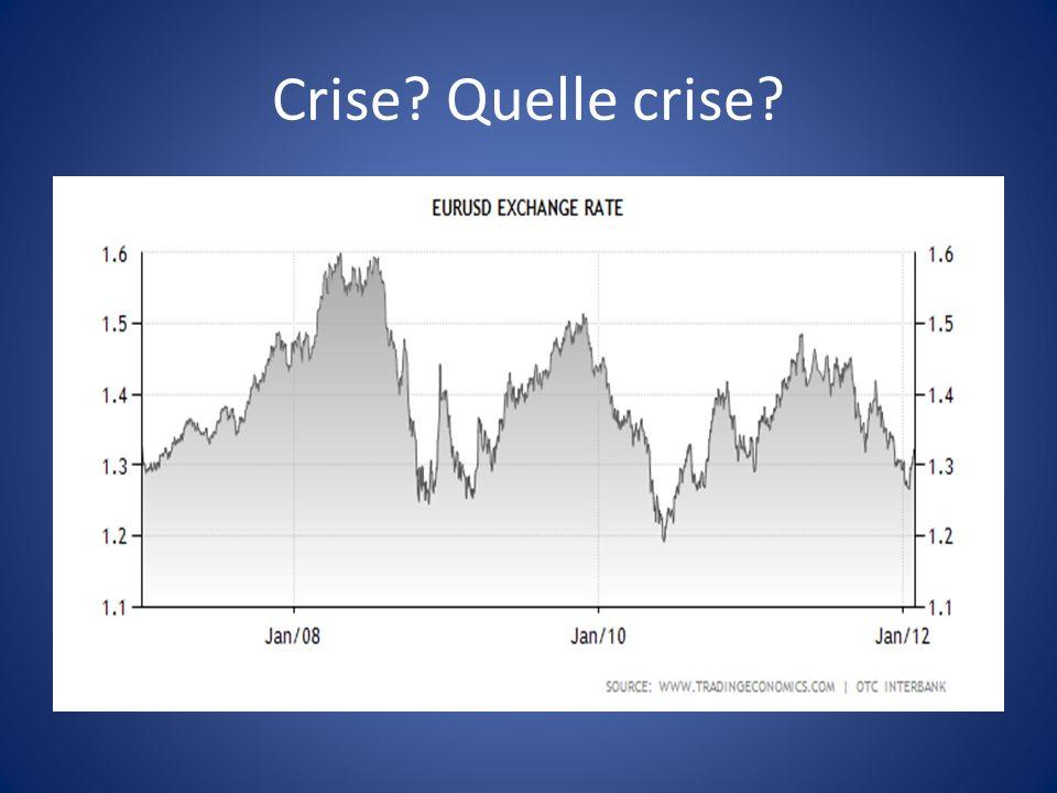 Crise? Quelle crise?