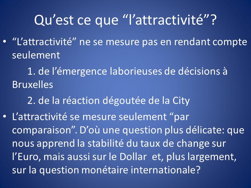 Quest ce que lattractivité? Lattractivité ne se mesure pas en rendant compte seulement 1. de lémergence laborieuses de décisions à Bruxelles 2. de la