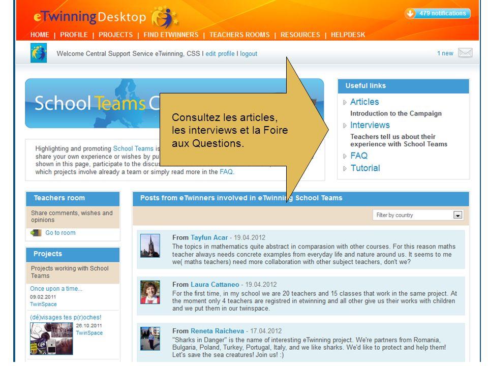 Consultez les articles, les interviews et la Foire aux Questions.