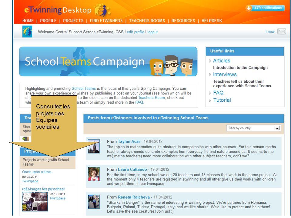 Consultez les projets des Équipes scolaires