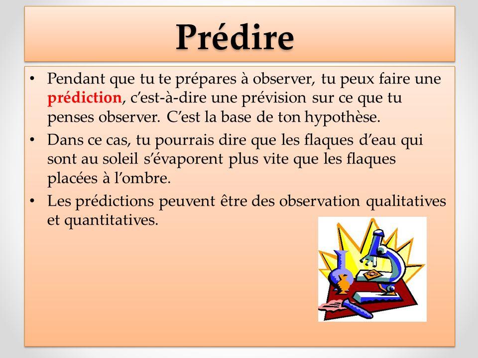 ProcédureProcédure Écrire clairement les étapes à suivre, en phrases complètes.