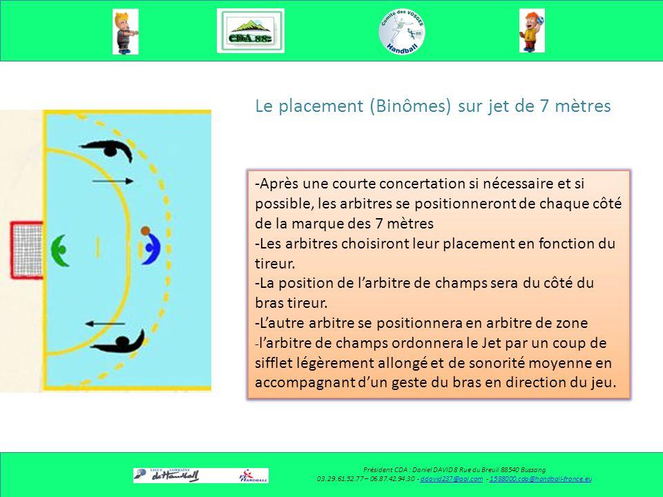 Le placement (Binômes) Président CDA : Daniel DAVID 8 Rue du Breuil 88540 Bussang 03.29.61.52.77 – 06.87.42.94.30 - ddavid237@aol.com - 1588000.cda@ha