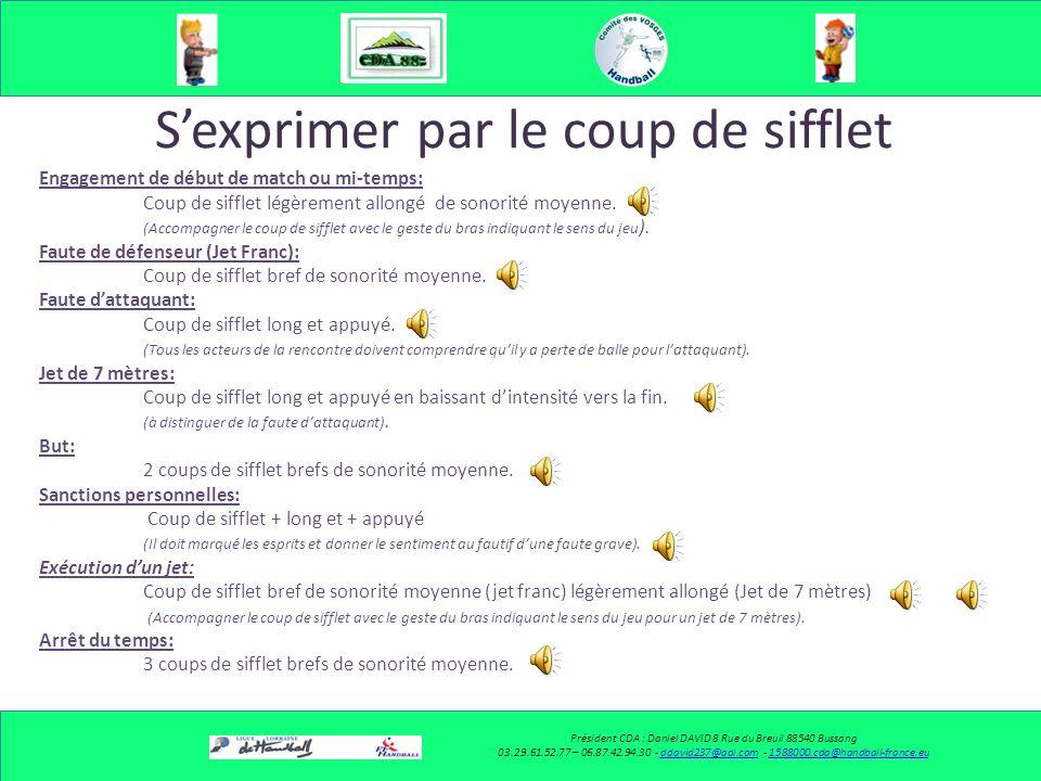 Sexprimer par le coup de sifflet Président CDA : Daniel DAVID 8 Rue du Breuil 88540 Bussang 03.29.61.52.77 – 06.87.42.94.30 - ddavid237@aol.com - 1588
