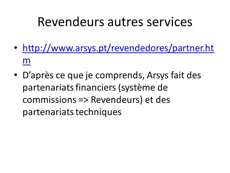 Revendeurs autres services http://www.arsys.pt/revendedores/partner.ht m http://www.arsys.pt/revendedores/partner.ht m Daprès ce que je comprends, Ars