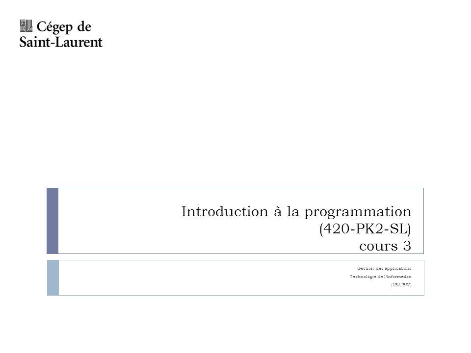 Plan Opération arithmétique Priorité dopération Laboratoire 7 Exercices NOTE: LES SOLUTIONS SUR LE WEB NONT PAS DE COMMENTAIRES.