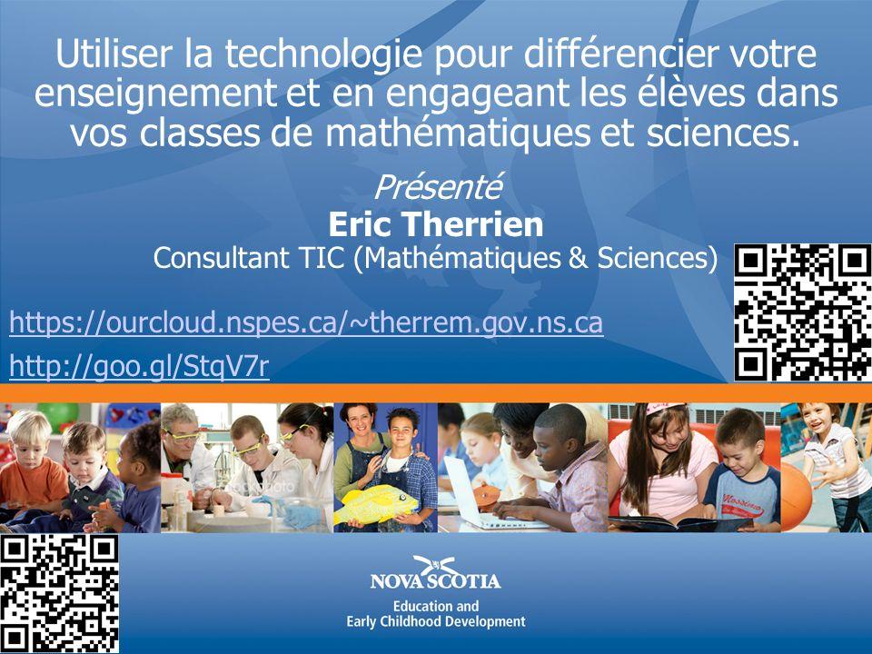 Utiliser la technologie pour différencier votre enseignement et en engageant les élèves dans vos classes de mathématiques et sciences.