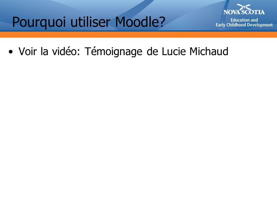 Voir la vidéo: Témoignage de Lucie Michaud Pourquoi utiliser Moodle?