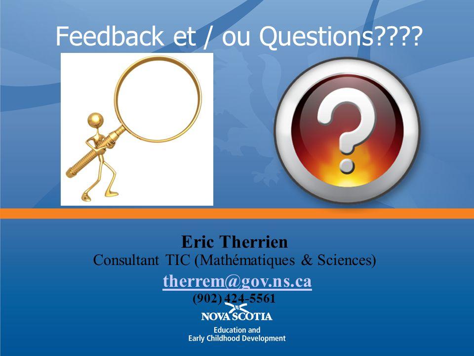 Feedback et / ou Questions???.