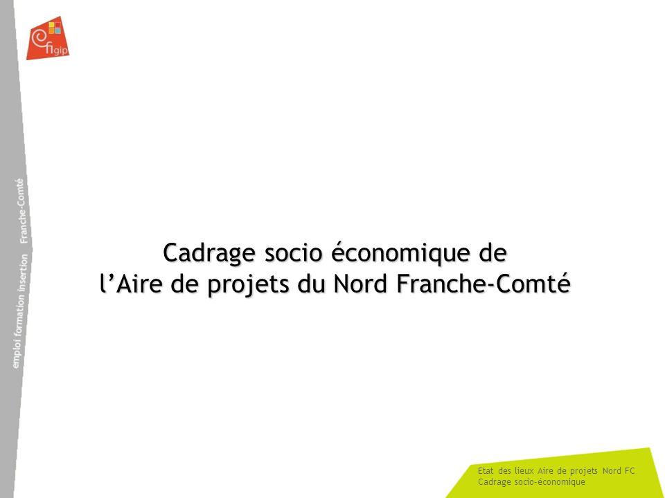 Etat des lieux Aire de projets Nord FC Cadrage socio-économique Cadrage socio économique de lAire de projets du Nord Franche-Comté