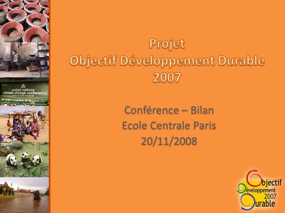 Conférence – Bilan Ecole Centrale Paris 20/11/2008 Conférence – Bilan Ecole Centrale Paris 20/11/2008
