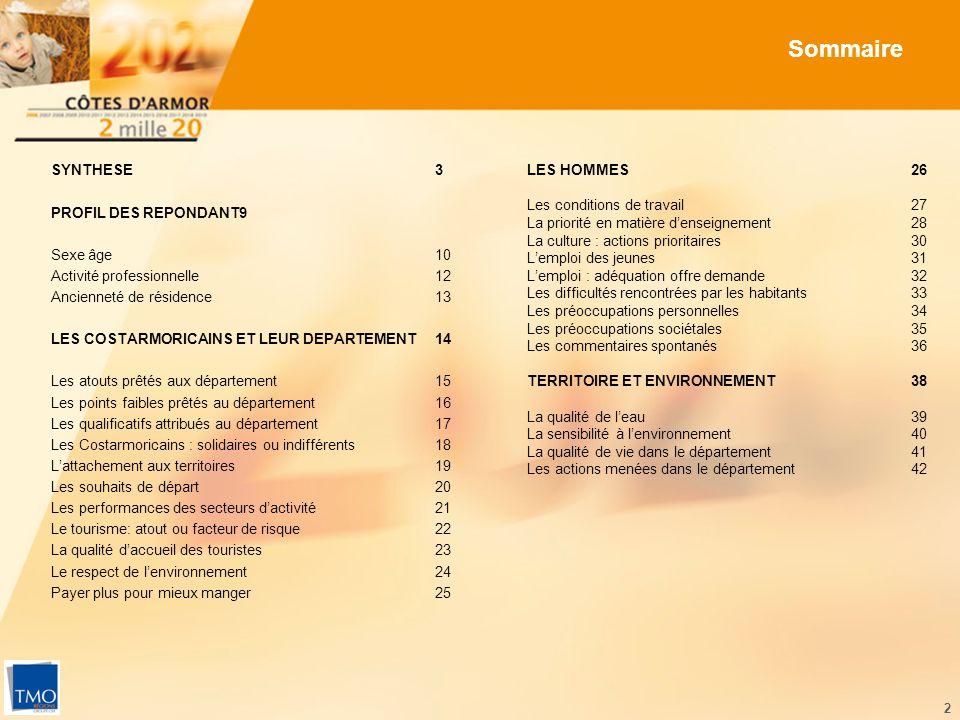 43 LES ACTIONS MENÉES DANS LE DÉPARTEMENT TRANSPORTS ET EQUIPEMENTS - SATISFAISANT -- INSATISFAISANT -