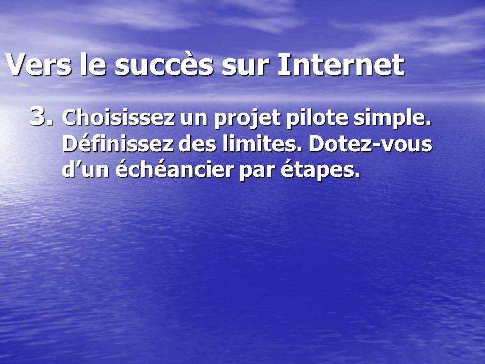 Vers le succès sur Internet 3. Choisissez un projet pilote simple.