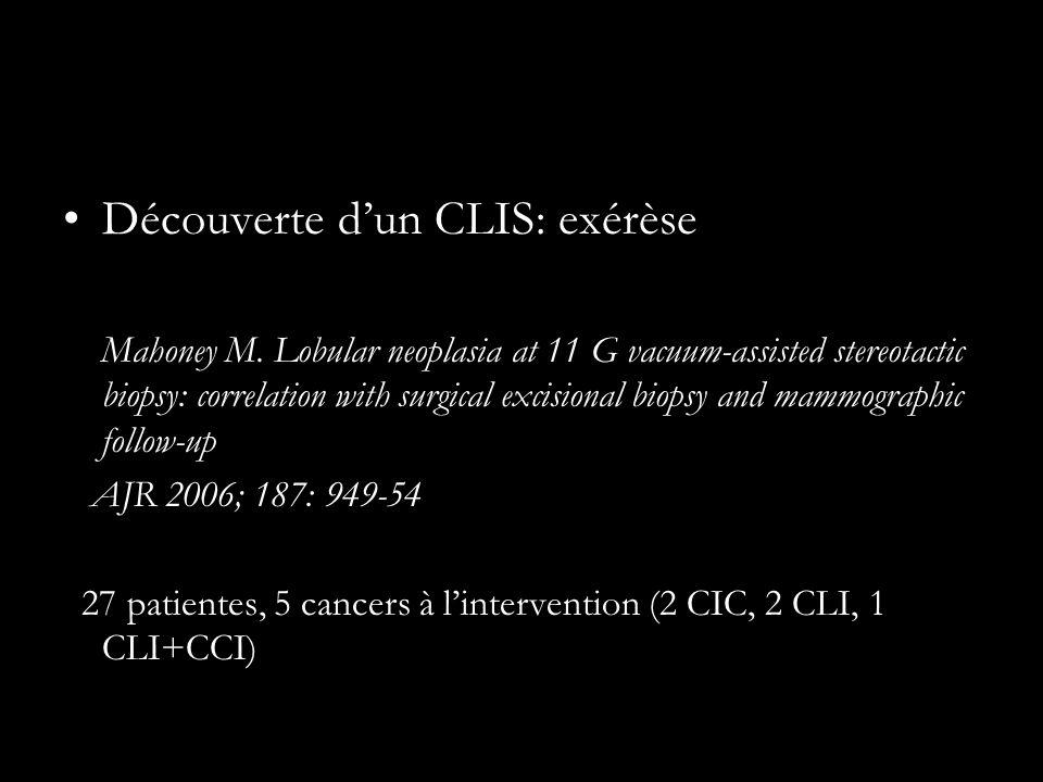 Découverte dun CLIS: exérèse Mahoney M.