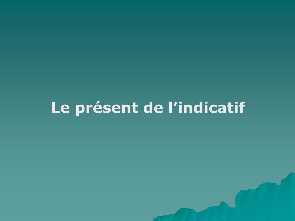 Le présent de lindicatif