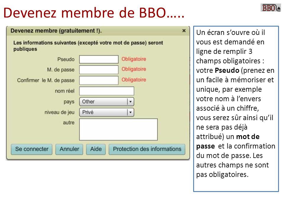 Devenez membre de BBO…..