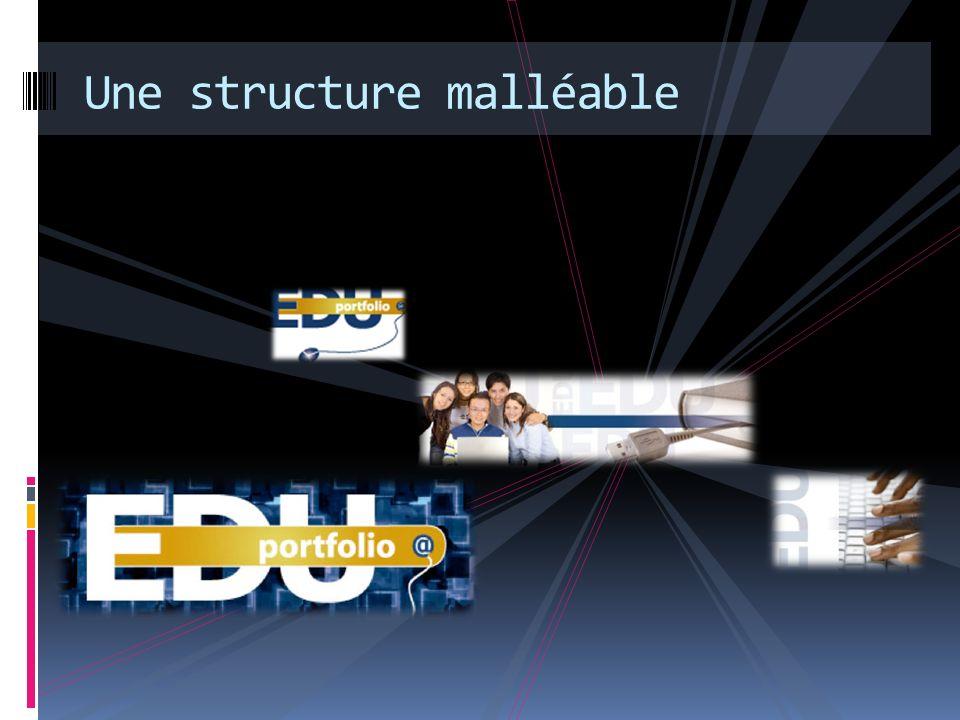 Une structure malléable