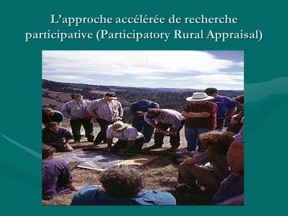 Lapproche accélérée de recherche participative (Participatory Rural Appraisal)