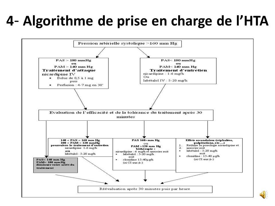 4- Prise en charge hospitalière des PE (consensus professionnel) (G2+)Lexpansion volémique prudente est possible en cas de chute brutale et significat