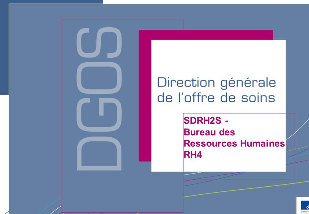 Direction générale de loffre de soins - DGOS SDRH2S - Bureau des Ressources Humaines RH4