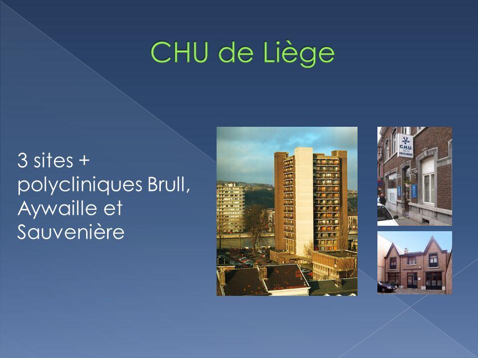 3 sites + polycliniques Brull, Aywaille et Sauvenière