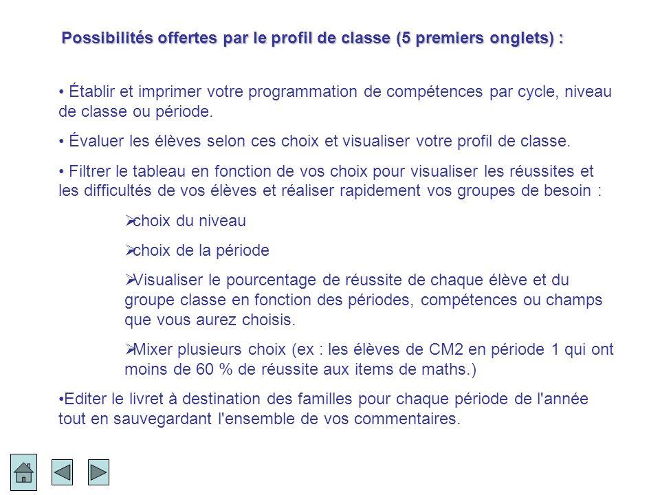 Dans l exemple ci-dessous filtré sur Français langage oral on peut remarquer entre autres : Que 2 compétences sont chutées… Que les élèves 2 et 12 auraient besoin d un soutien important… Que cette compétence est acquise pratiquement par toute la classe.