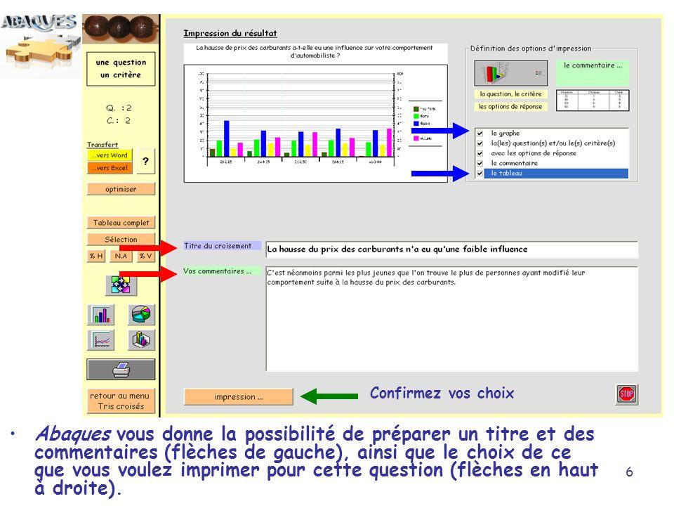 17 Vous pouvez changer le type de graphe en cliquant sur un des quatre exemples.
