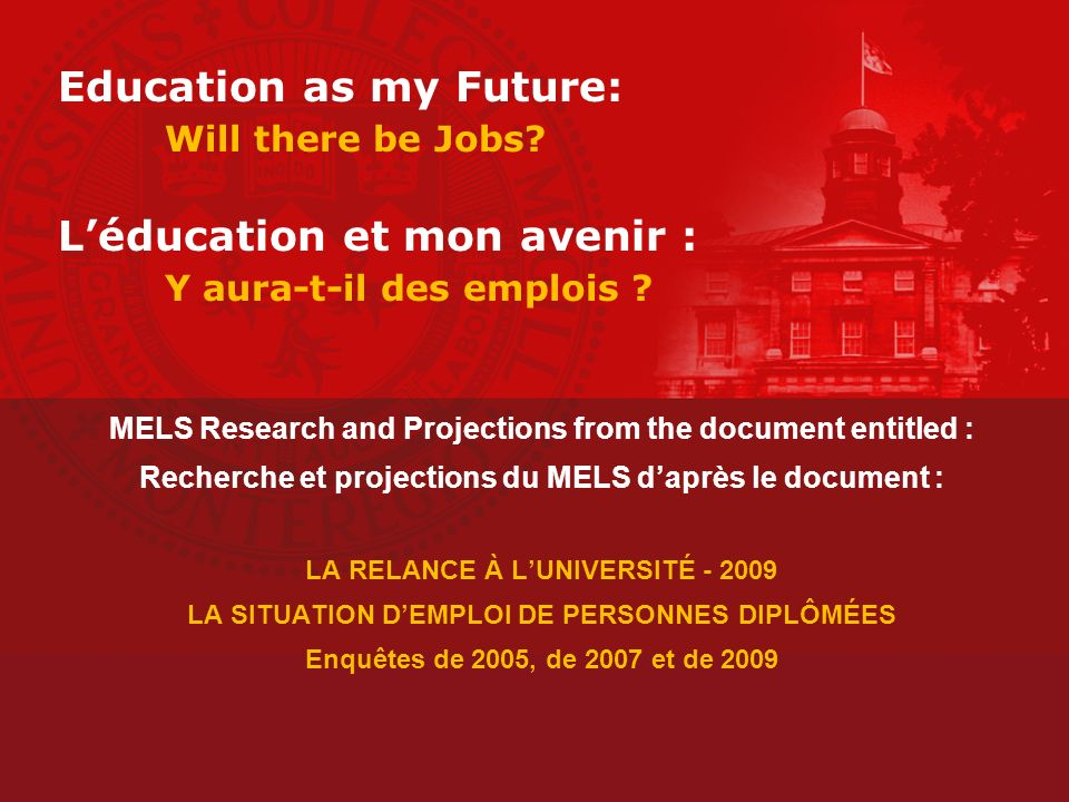 Projections from MELS Holders of a bachelors degree in the following fields, are employed at the rates indicated.