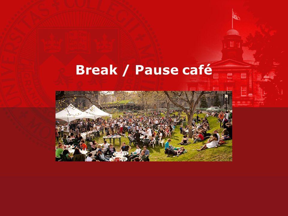 Break / Pause café