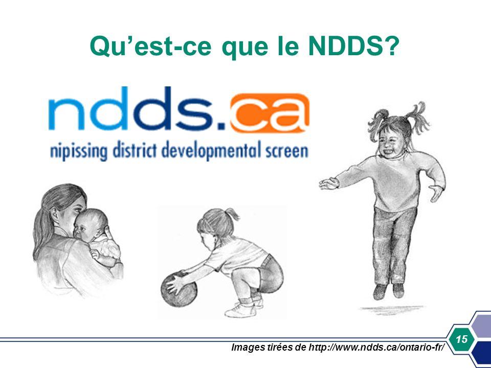 15 Quest-ce que le NDDS? Images tirées de http://www.ndds.ca/ontario-fr/