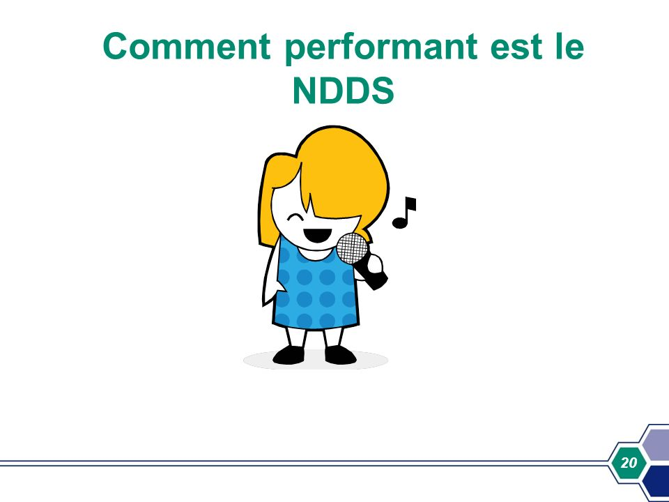 20 Comment performant est le NDDS